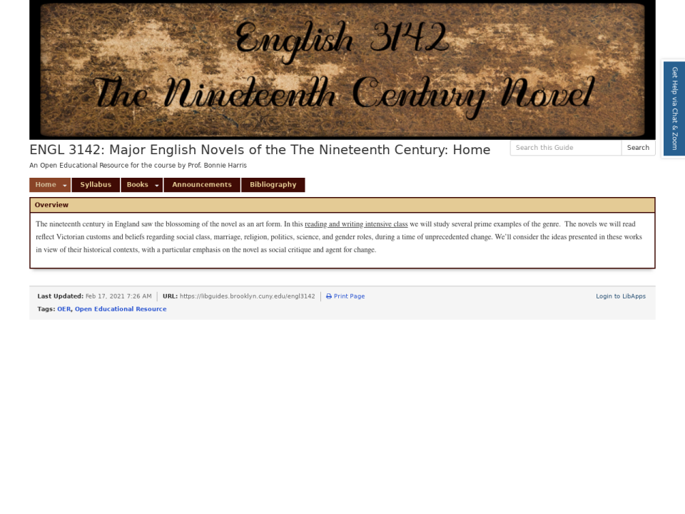 Go to English OER subject homepage.