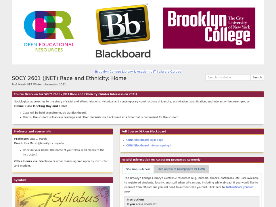 Clicking takes you to BC OER homepage.