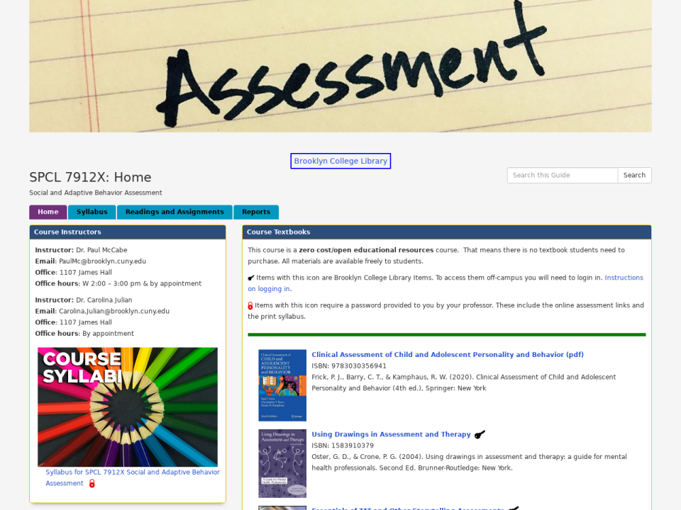 Assessment - go to OER homepage.