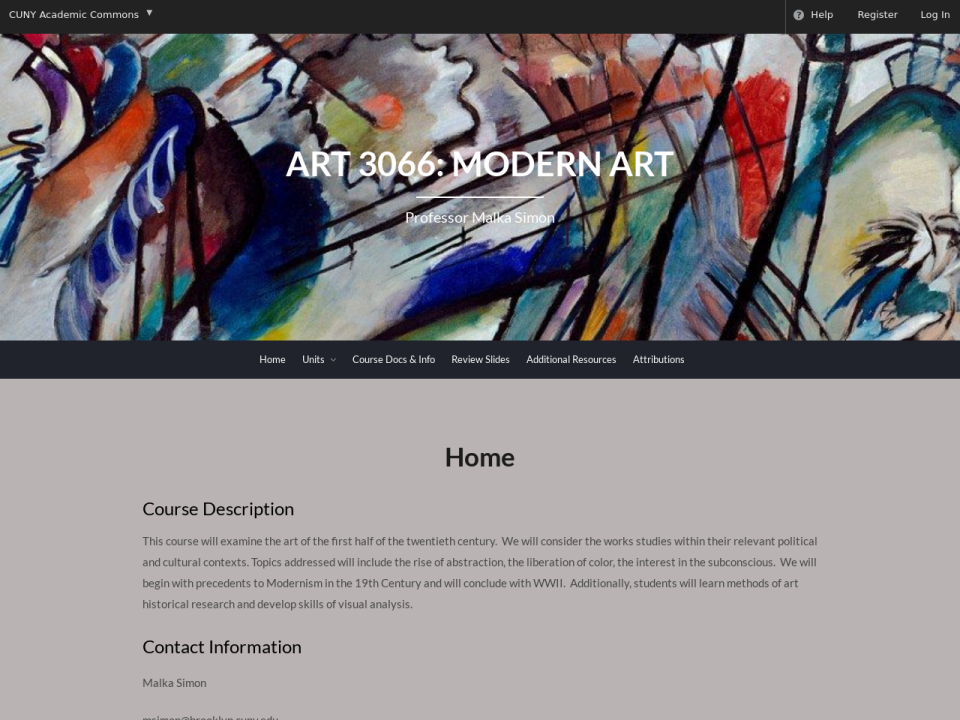 Art 3066 homepage, click to go home.