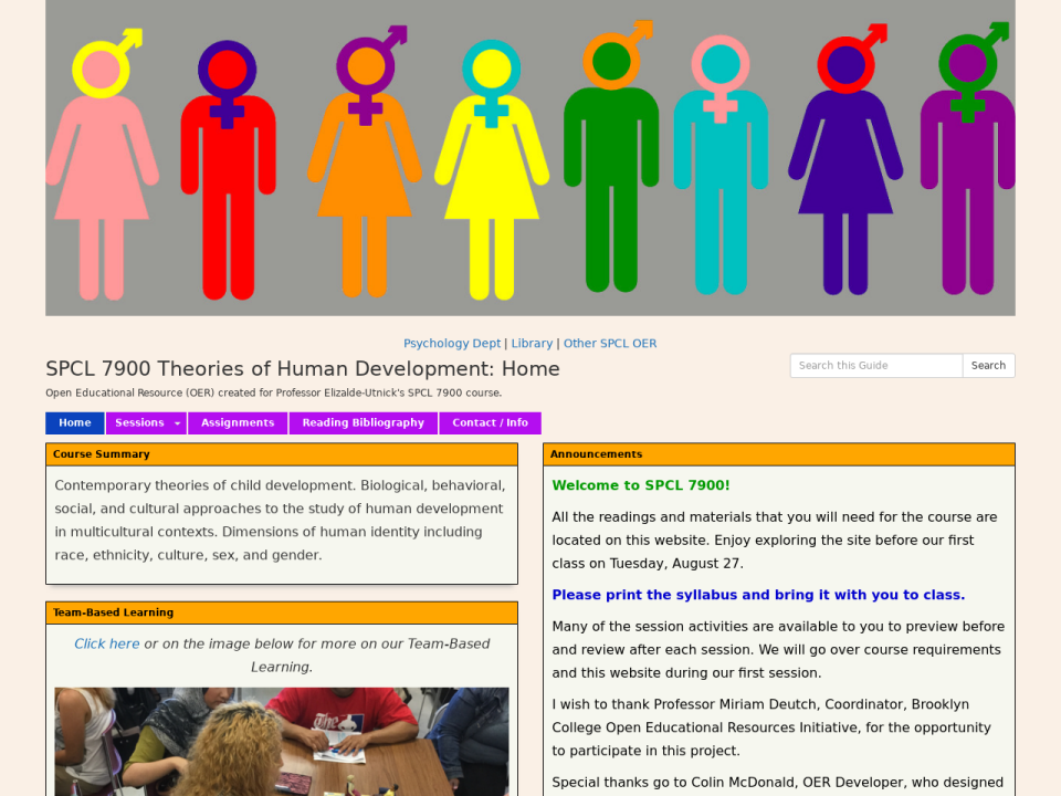 Theories of Human Development homepage, click to go to guide.