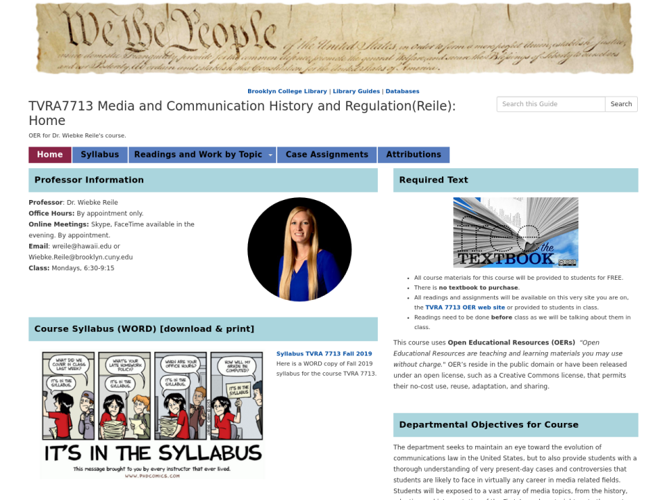 screengrab of guide homepage, click to go to page.