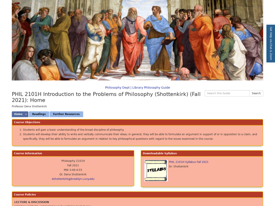Homepage  of phhilosphy 2101H, click to go to guide.