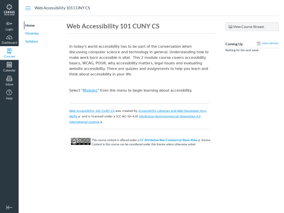 Screngrab of an OER on accessibility, click to go to Open Educational Resources subject page.